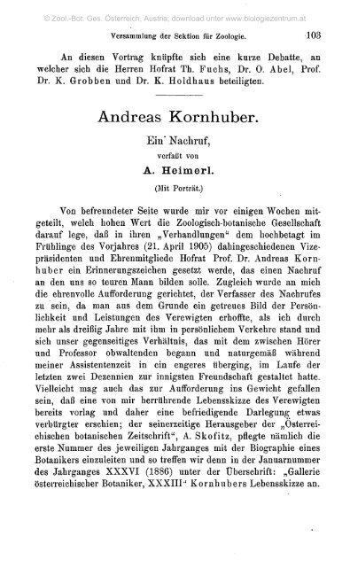Andreas Kornhuber. - Oberösterreichisches Landesmuseum