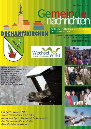 Dezember 2011 - Gemeinde Dechantskirchen