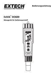 ExStik DO600 - Extech Instruments