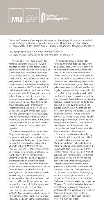 Kompositionismus Magazine