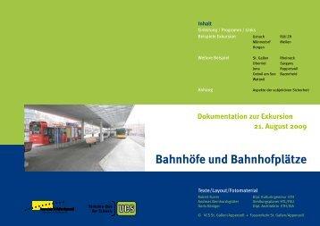Bahnhöfe und Bahnhofplätze - Fussverkehr Schweiz