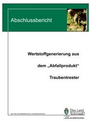 Traubentrester Abschlussbericht - Nachhaltigkeit - Land Steiermark