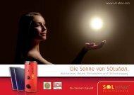 Die Sonne von SOLution. - SOLution Solartechnik: SOLution Startseite
