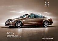 Preisliste Mercedes-Benz S-Klasse Limousine (W/V221) vom 05.07.2010.