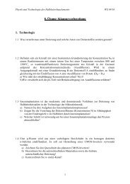 8. Übung- Klausurvorbereitung 1. Technologie