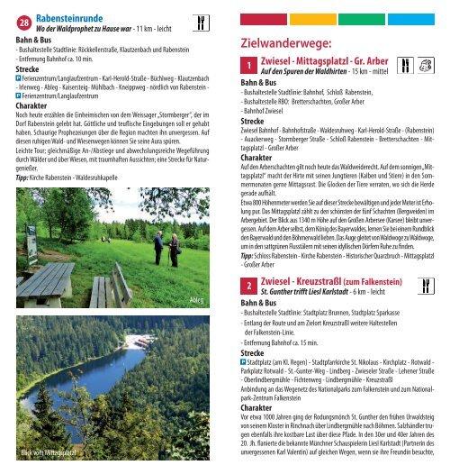Wanderbroschüre Zwiesel - Bayerwald Ticket