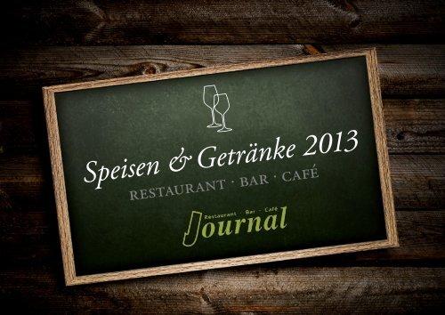 Speisekarte 2013 (PDF) - Restaurant in Potsdam – Das Journal