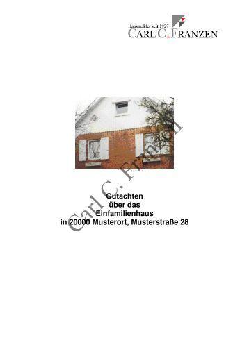 Muster hausabrechnung carl c franzen for Muster einfamilienhaus
