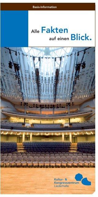 Flyer (PDF) - und Kongresszentrum Liederhalle
