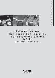 Telegramme zur Bedienung/Konfiguration der ... - Sick