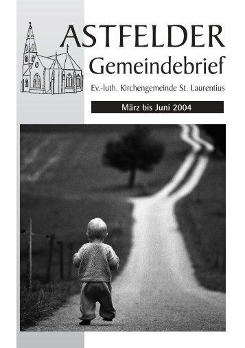 März bis Juni 2004 - Astfeld