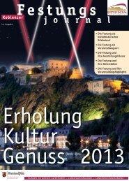 Festungsjournal 2013 - Festung Ehrenbreitstein