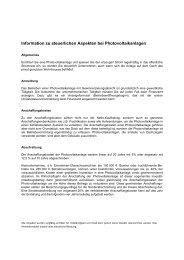 Information zu steuerlichen Aspekten bei Photovoltaikanlagen