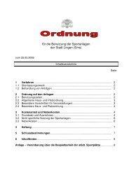 Benutzungsordnung der Sportanlagen - Stadt Lingen