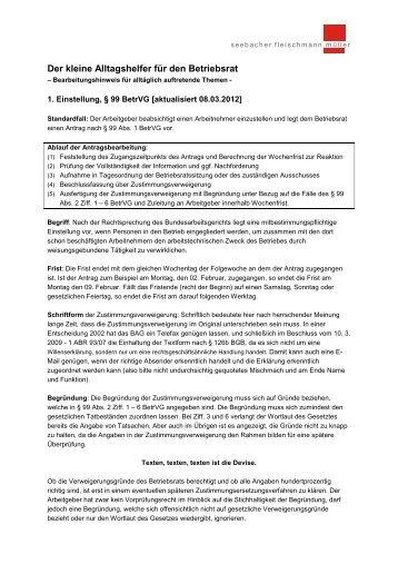 Arbeitgeber Verletzt Mitbestimmungsrecht Nach 99 Betrvg