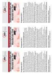 Infoblatt. Programm 2011 - AWO Kreisverband Nürnberg e. V.