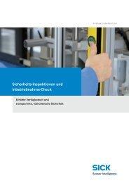 Sicherheits-Inspektionen und Inbetriebnahme-Check - Sick