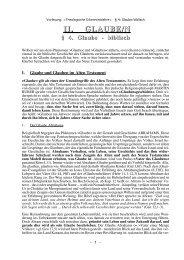 II. GLAUBE/N - Theologie-Skripten