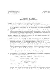 Mathematisches Institut der Universität München Prof. Dr. Rudolf ...