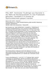 POL-HEF: Vermisster 72-jähriger aus Haunetal in der ... - Firmendb