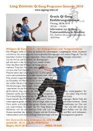Long Zentren: Qi Gong Programm Sommer 2010 Gratis Qi Gong ...