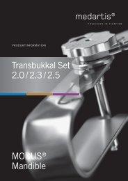 Transbukkal Set 2.0 / 2.3 / 2.5 - Medartis