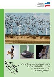 Empfehlungen zur Berücksichtigung tierökologischer Belange bei ...