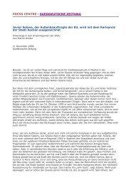 press centre : sueddeutsche zeitung - Rat der Europäischen Union ...