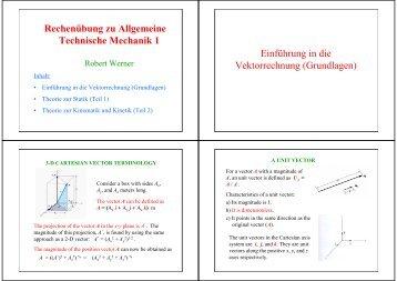 Mechanik magazines for Gleichgewichtsbedingungen statik