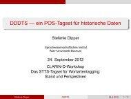 DDDTS — ein POS-Tagset für historische Daten