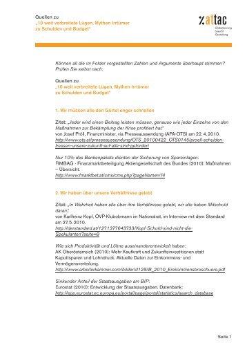 Quellen zu - Attac Austria