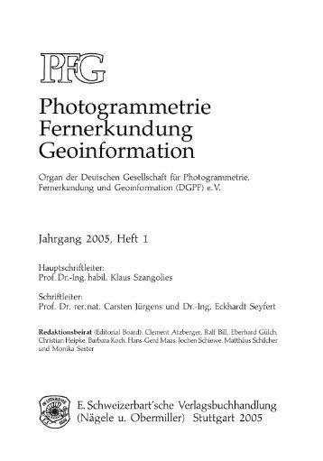 Photogrammetrie Fernerkundung - DGPF
