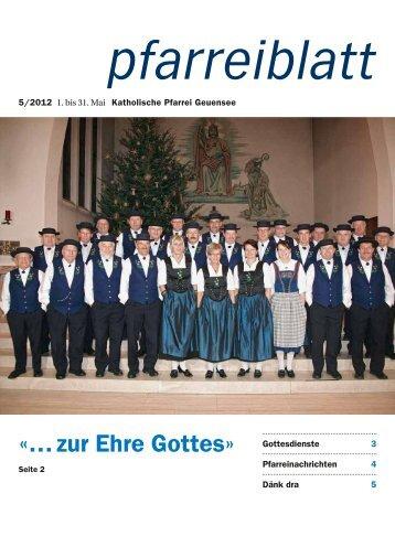 Mai 2012 - Pfarrei Geuensee