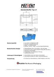 Standardkoffer Typ 17 - Prevent AG