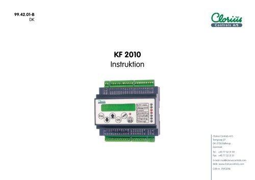 Regulator KF 2010, Instruktion 99.42.01 DK - Clorius Controls