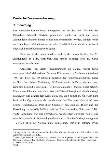 Deutsche Zusammenfassung 1 Einleitung Sleeping Tiger