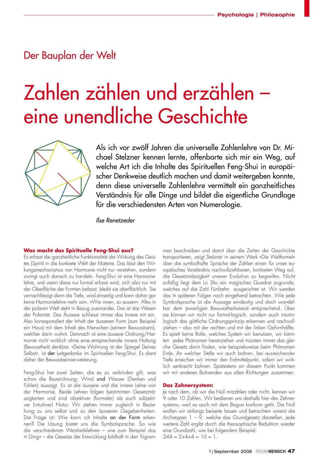 Feng Shui Zahlen 3 free magazines from feng shui meisterschule com
