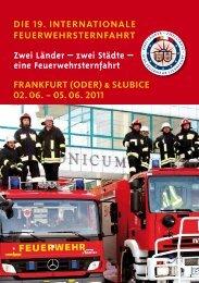 Flyer der Internationale Feuerwehrsternfahrt