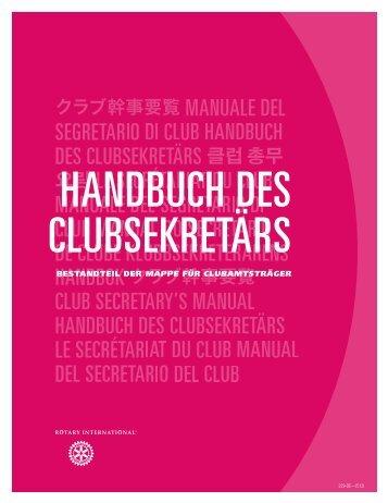 Handbuch des Clubsekretärs - Rotary International