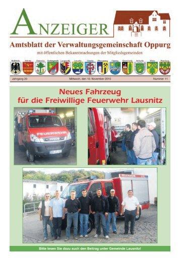Amtsblatt 11 - Verwaltungsgemeinschaft Oppurg