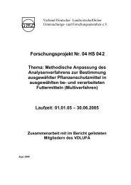 Forschungsprojekt Nr. 04 HS 042 Thema: Methodische ... - BLE