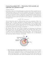 Lösung Hausaufgabe 09/1 – Elektrisches Feld innerhalb und ...