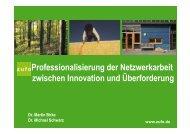 Professionalisierung der Netzwerkarbeit zwischen Innovation ... - BiBB