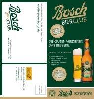 BIER CLUB - Brauerei Bosch