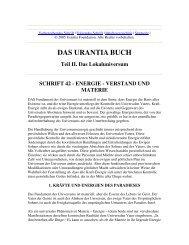 Das Urantia Buch - Schrift 42 - Energie - Verstand und Materie