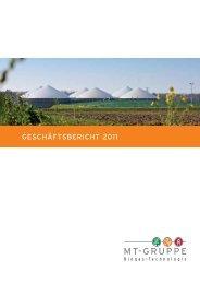 Geschäftsbericht 2011 - MT-Energie