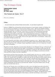 05.03.2005 Tobias: Die Freiheit der Seele, Teil 3 - Spiru.de