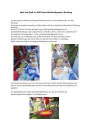 Spiel und Spaß im AWO-Sprachheilkindergarten Nienburg