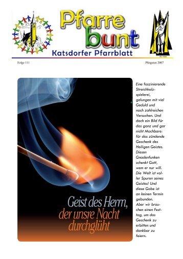 Eine faszinierende Streichholz- spielerei, gelungen ... - Pfarre Katsdorf