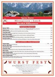 W U R S T F E S T - Jorgs Cafe Vienna